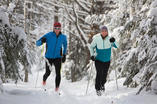 Cross Country Skiing Couple
