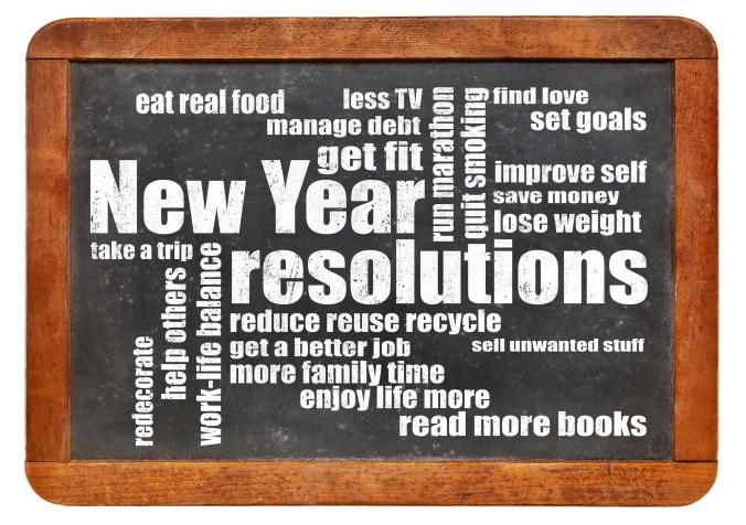 New Year goals or resolutions