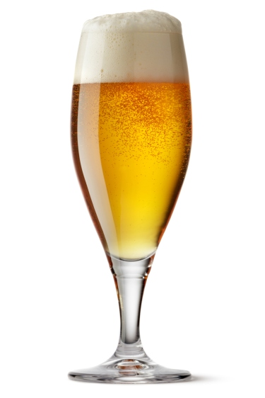 Drinks: Beer Isolated on White Background
