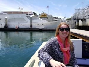 Audrey takes the ferry to Coronado Island.